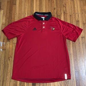 Adidas University of Louisville polo size large